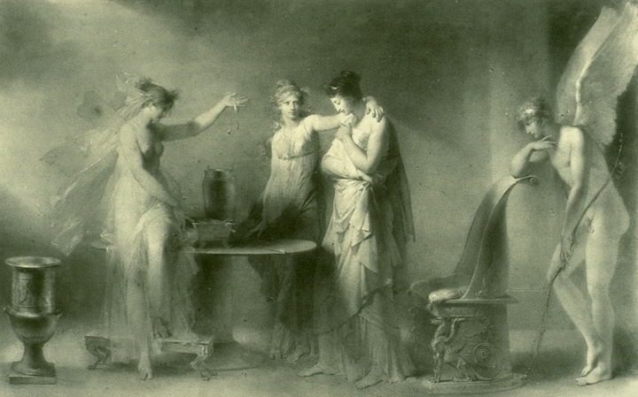 psyche and her two sisters jean honore fragonard wikiart org