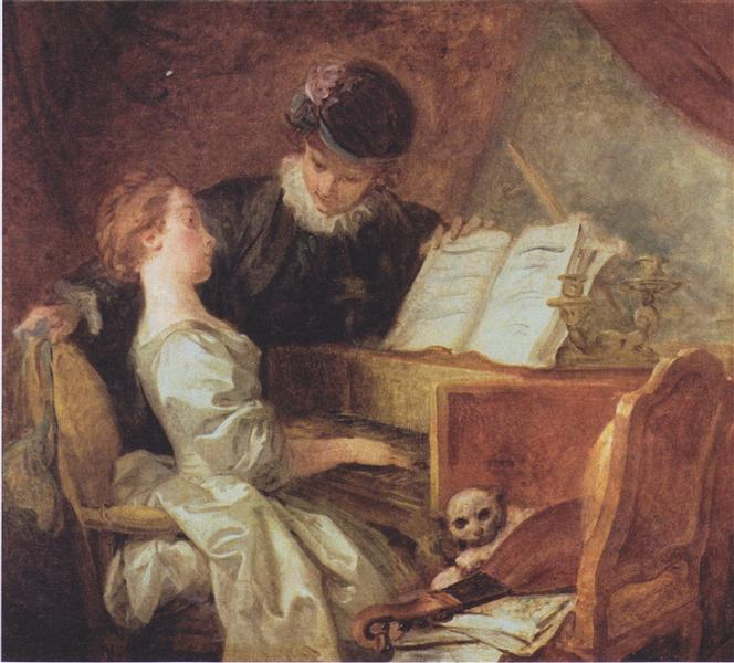 The Music Lesson, c.1769 - Jean-Honore Fragonard