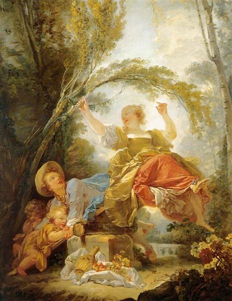 The Seesaw, 1750 - Jean-Honore Fragonard