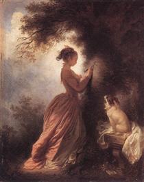 The Souvenir - Jean-Honore Fragonard