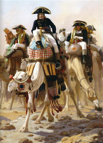 General Bonaparte with his Military Staff in Egypt, 1863 - Жан-Леон Жером