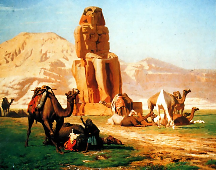 The Colossus of Memnon - Jean-Leon Gerome