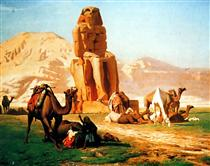 The Colossus of Memnon - Jean-Léon Gérôme