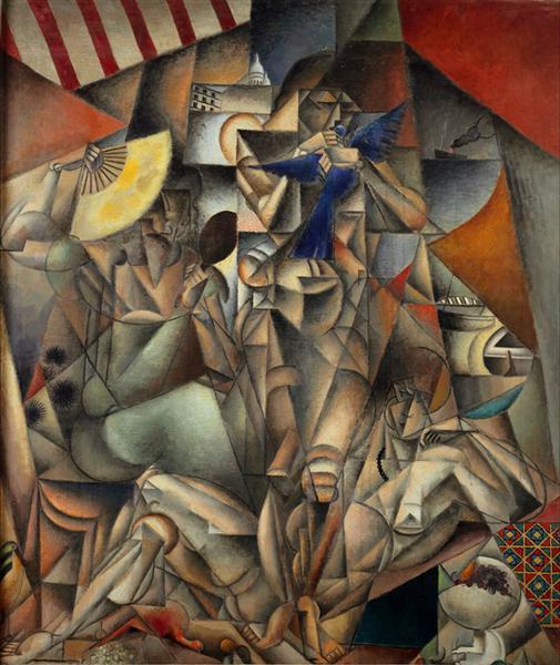 L'Oiseau bleu (The Blue Bird), 1912 - 1913 - Jean Metzinger