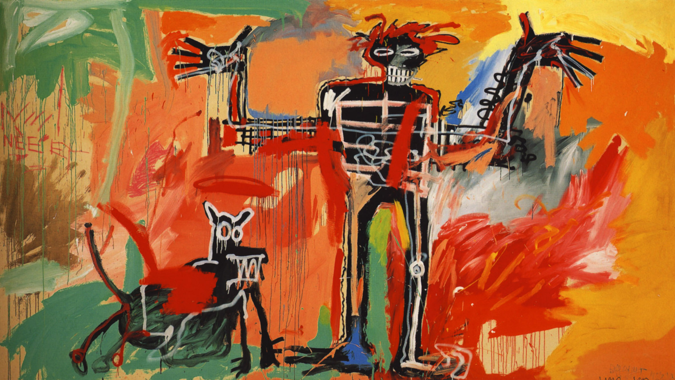 Boy and dog in a Johnnypump - Jean-Michel Basquiat - バスキア