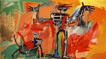 Boy and dog in a Johnnypump - Jean-Michel Basquiat