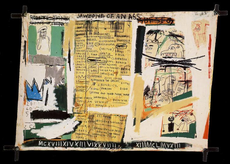 jawbone of an ass, 1982 - jean-michel basquiat - wikiart
