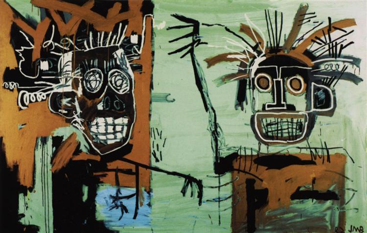 Two heads on Gold, 1982 - Jean-Michel Basquiat
