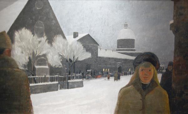 Montréal il y a longtemps, 1966 - Jean Paul Lemieux - WikiArt.org