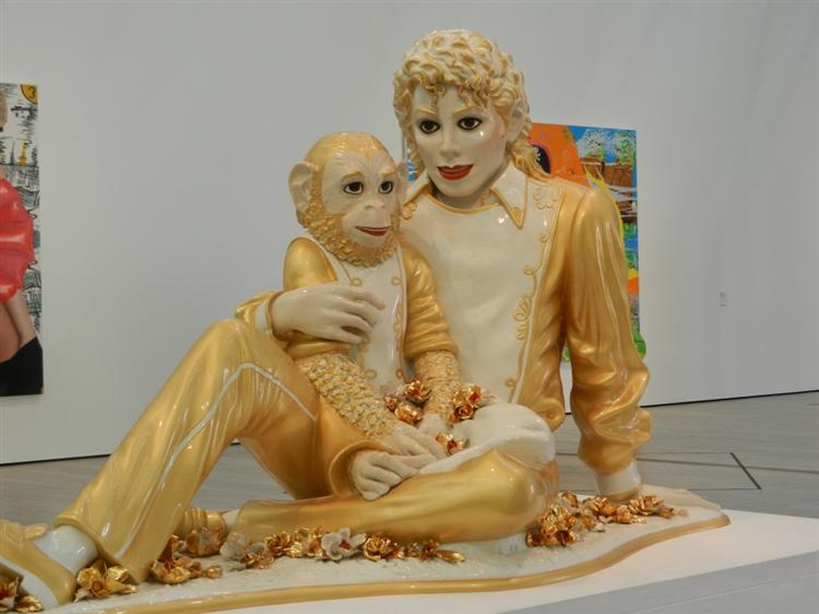 Michael Jackson and Bubbles - Jeff Koons