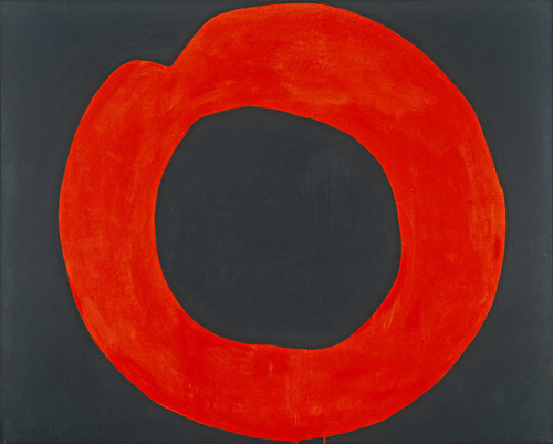 Red Circle on Black, 1965 - Jiro Yoshihara
