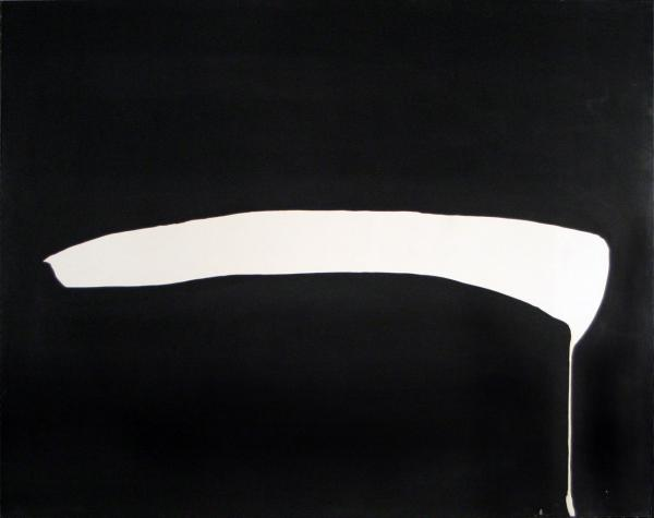 White Line on Black, 1968 - Jiro Yoshihara