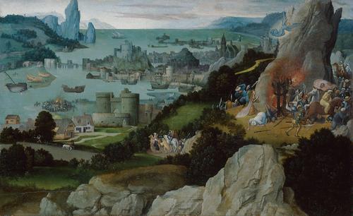 Miracle of St. Catherine, c.1515 - Joachim Patinir