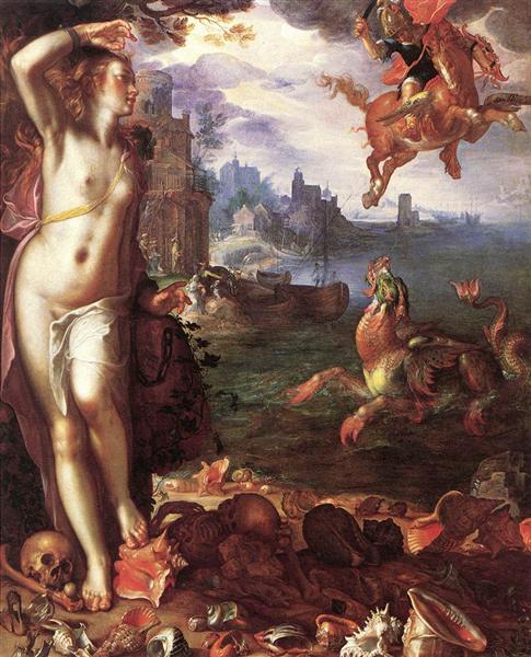 Perseus Rescuing Andromeda - Joachim Wtewael