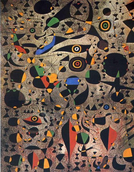 Dones rodejades pel vol d'un ocell, 1941 - Joan Miro