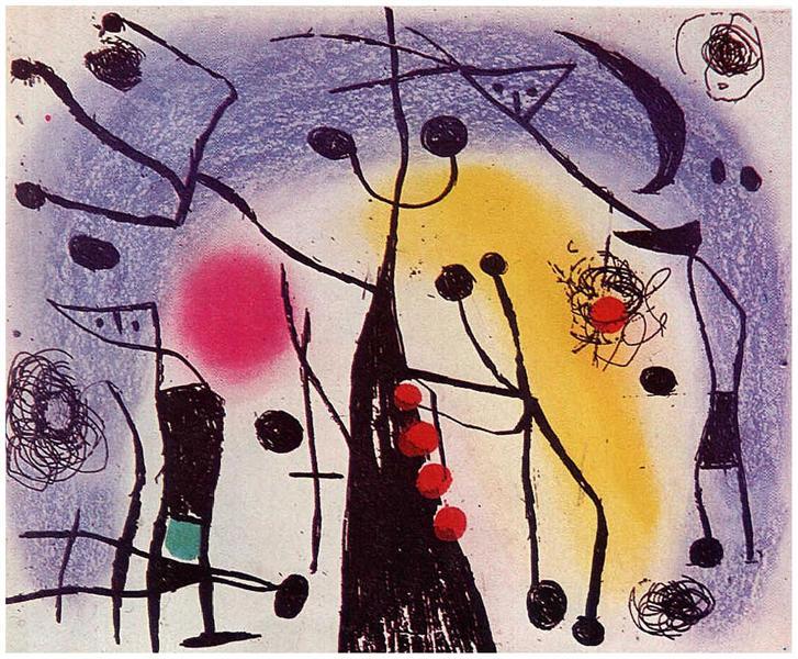 The Magdalenians, 1958 - Joan Miro