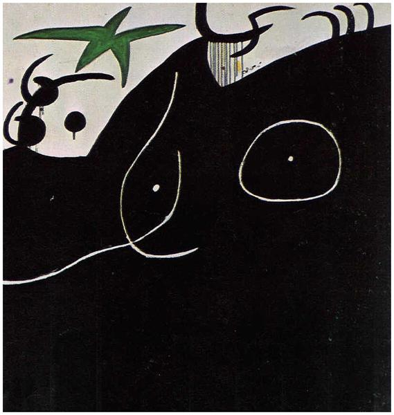 Femme devant l'étoile filante, 1974 - Joan Miro