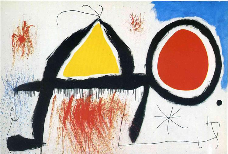 Character in Front of the Sun, 1968 - Joan Miro