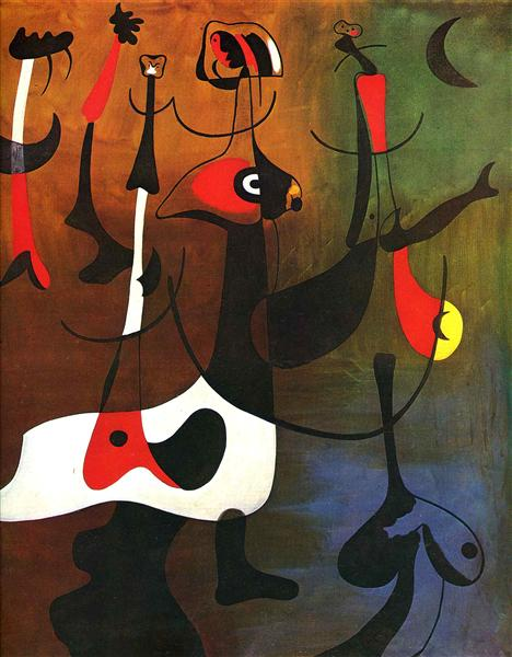 Rhythmic Characters, 1934 - Жоан Миро