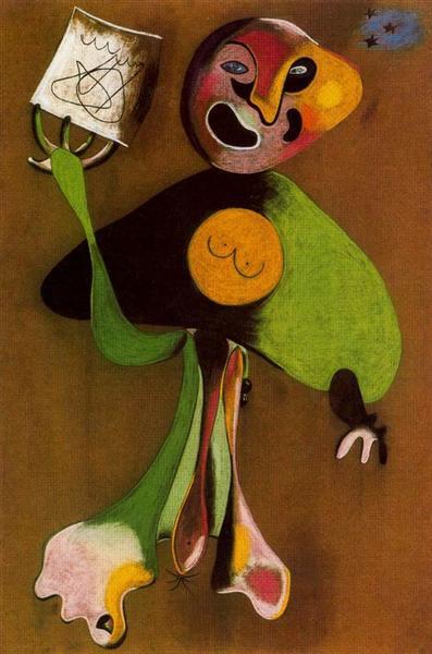 Woman (Opera Singer), 1934 - Joan Miro