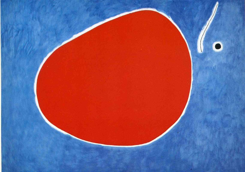 Joan Miró: Vuelo de la libélula frente al Sol (1968).