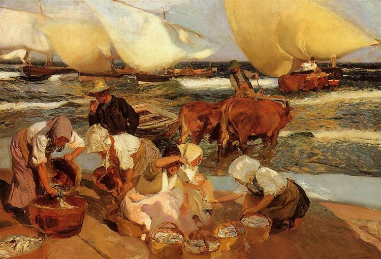 Beach at Valencia, 1908 - Joaquín Sorolla
