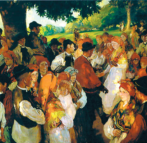 Galician party - Joaquín Sorolla