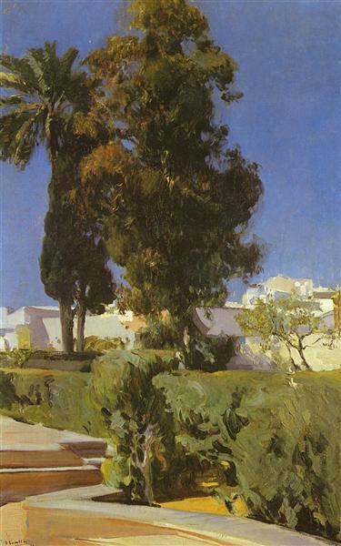 Gardens of Alcazar (Sevilla), 1910 - Joaquín Sorolla