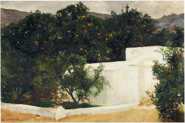 Orange trees on the road to Seville, 1903 - Joaquín Sorolla