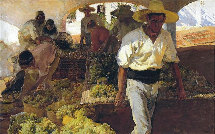 Preparing Raisins, 1900 - Joaquín Sorolla