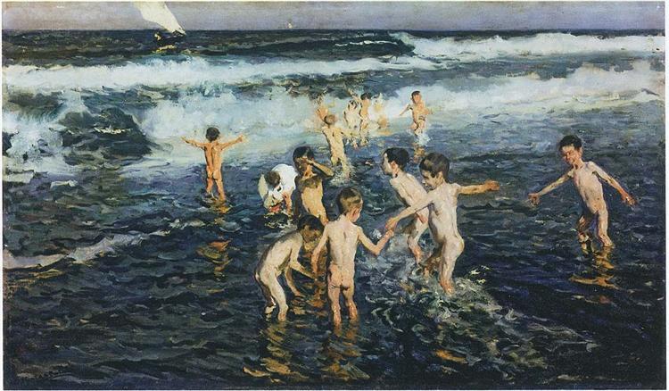 Sad Inheritance Study (Beach Rascals), 1908 - Joaquín Sorolla