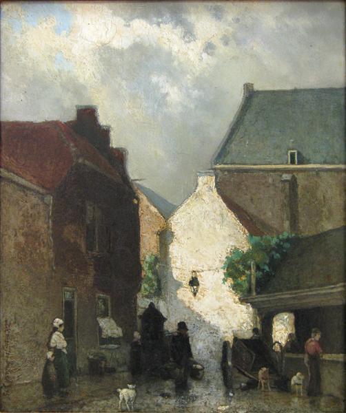 Fish market Sun, 1873 - Johan Hendrik Weissenbruch