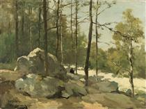 Forest View near Barbizon - Johan Hendrik Weissenbruch