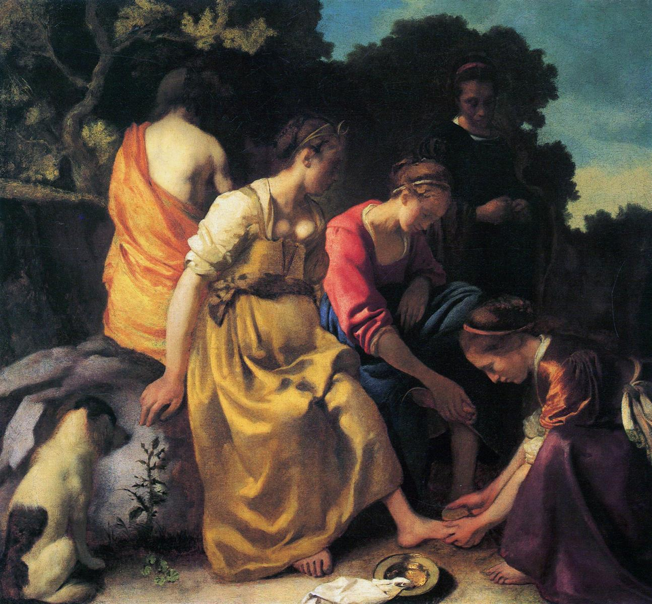 Diana and Her Companions, Johannes Vermeer, 1654