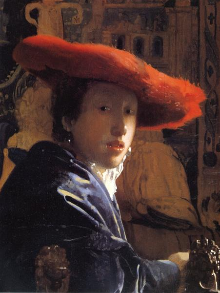 Girl with the red hat, c.1665 - c.1667 - Johannes Vermeer