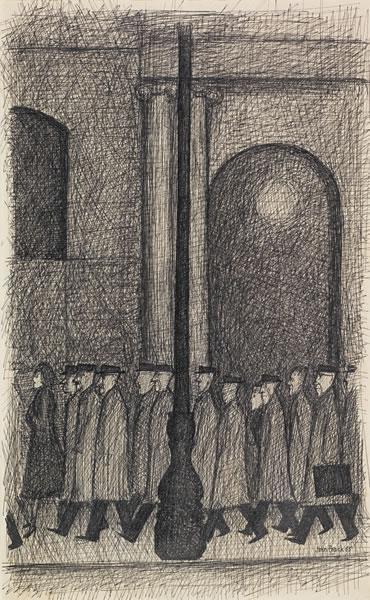 The lamp post, 1955 - John Brack