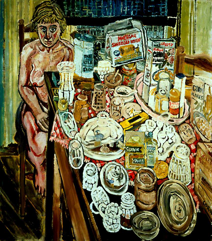 Kitchen Sink Realism Art: Jean And Still Life In Front Of A Window