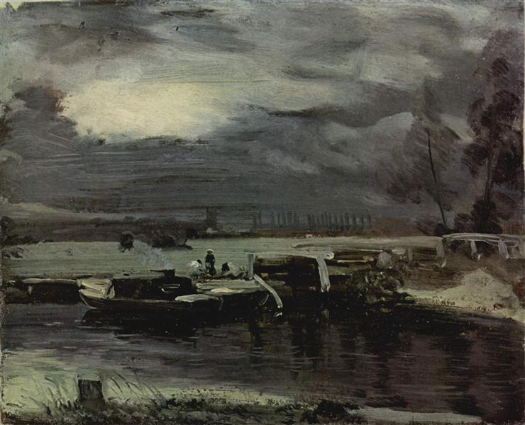 Boats on the Stour, 1811 - John Constable