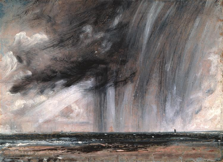 Seascape Study with Rain Cloud, c.1827 - John Constable