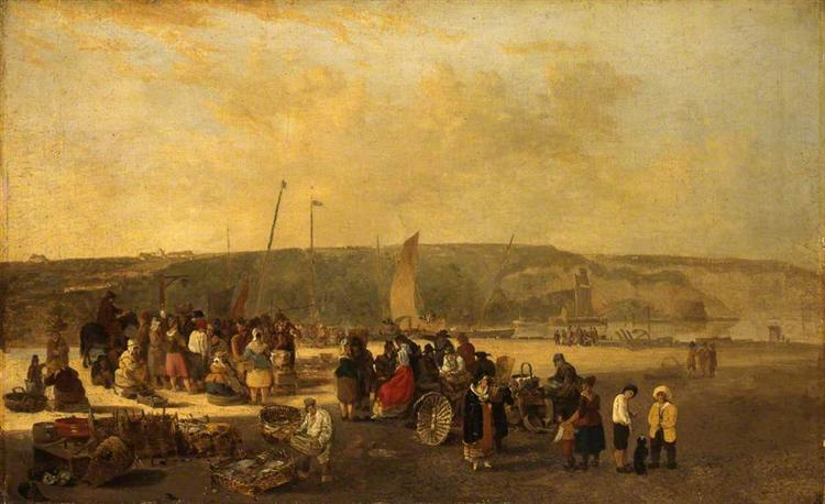 The Fish Market, Boulogne, France, 1820 - John Crome