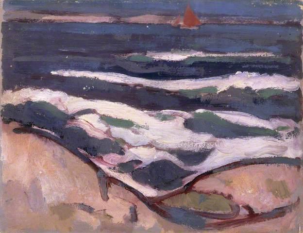 Dark Sea and Red Sail, 1909 - John Duncan Fergusson
