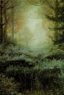Dew Drenched Furze - John Everett Millais