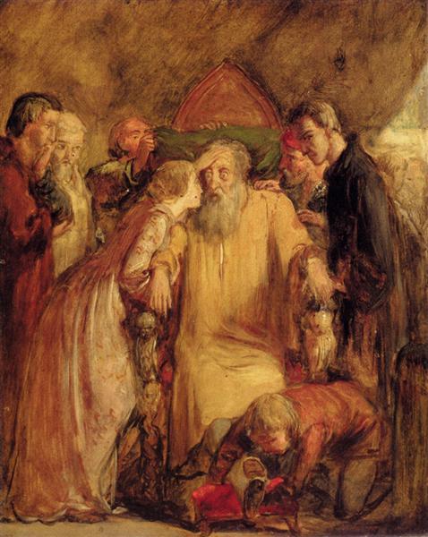 Lear And Cordelia, 1891 - John Everett Millais