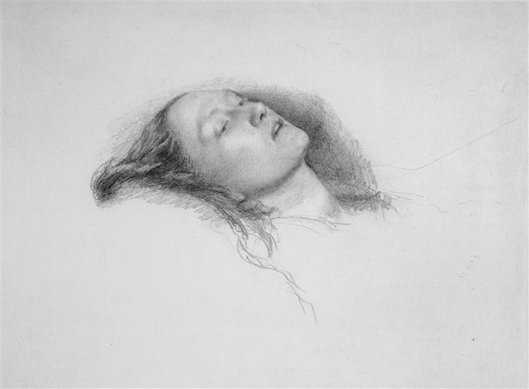 Study for Ophelia, 1852 - John Everett Millais