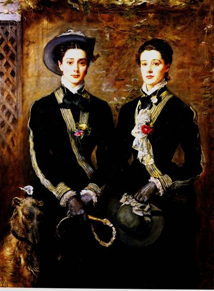 Twins (Grace and Kate Hoare), 1876 - Джон Эверетт Милле