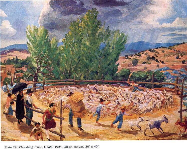Threshing Floor, Santa Fe, 1924 - John French Sloan