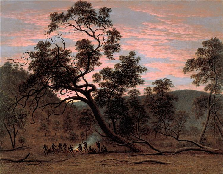 A corroboree of natives in Mills Plains - John Glover