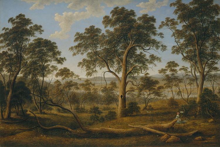 Launceston and the river Tamar, 1832 - John Glover