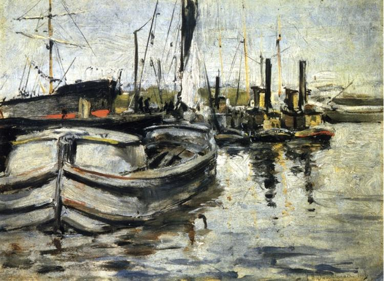 New York Harbor, c.1879 - John Henry Twachtman