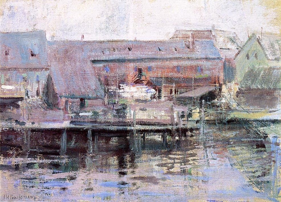 Waterfront Scene Gloucester, 1901